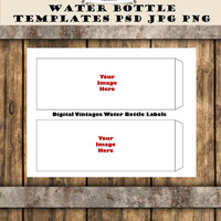 Water Bottle Lable Template for Parties etc Custom Personalized 8.5x11 sheet print size Digital Download Layered PSD PNG 300 DPI