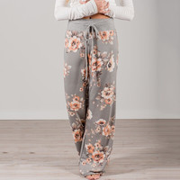 Floral Print Casual Pants [10240449037]