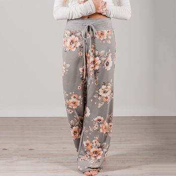 Floral Print Casual Pants [11564614863]
