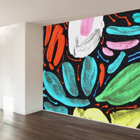 Abstract Floral Wall Mural Decal