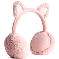 Faux Fur Earmuffs - from H&M