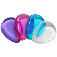 Fashion 4 Colors Silicone Gel Cosmetic Puff Transparent Flawless Makeup Powder Puff Foundataion Sponge Makeup Puff Accessories