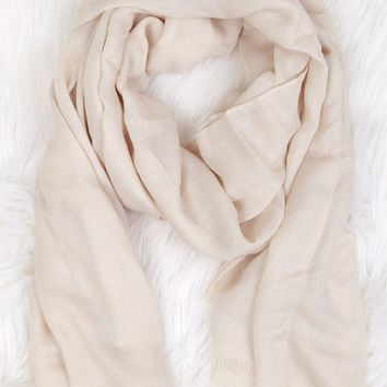 Open End Pashmina Ivory