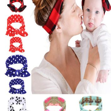 Rabbit Ear Baby Prop Headband Set Of 2 (Mommy and Baby) - CCH153