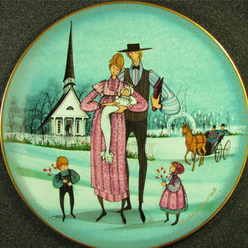 """ANNA PERENNA Buckley Moss """"The Christening"""" Collector Plate New! MIB! Rare #1744 Free Shipping!"""