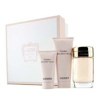 Cartier Baiser Vole Coffret: Eau De Parfum Spray 100ml/3.3oz + Shower Gel 100ml/3.3oz + Body Lotion 50ml/1.6oz Ladies Fragrance