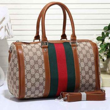 PEAPON Gucci Women Leather Luggage Travel Bags Tote Handbag Tagre-