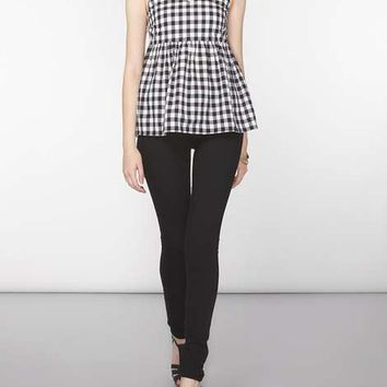 **Tall Gingham Peplum Cami Top - View All Sale - Sale & Offers