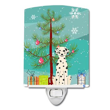 Merry Christmas Tree Dalmatian Ceramic Night Light BB4222CNL
