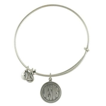Alex and Ani Jesus Charm Bangle - Russian Silver