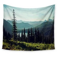 "Green Landscape Sylvia Cook Discover Your Northwest Wall Tapestry (51""x60"") - Kess InHouse"