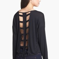 Liberty Love Dolman Sleeve Cage Back Top (Juniors) | Nordstrom