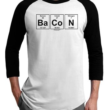 Bacon Periodic Table of Elements Adult Raglan Shirt by TooLoud