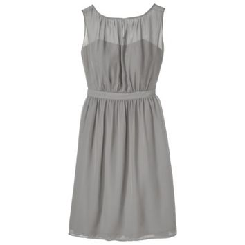 TEVOLIO™ Women's Chiffon Illusion Sleeveless Dress - Neutral Colors