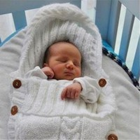 Infant Knitted Swaddle Wrap