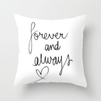 Forever & Always Throw Pillow by Sjae