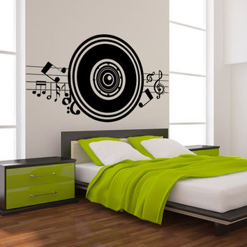 Vinyl Wall Decal Sticker Music Speaker #1140