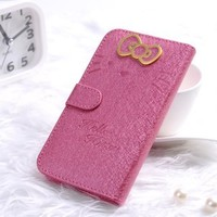 Hot Sale Beutiful Shell Skin Case Hello Kitty Style Cover for Samsung Galaxy SIII i9300 S3 Pink