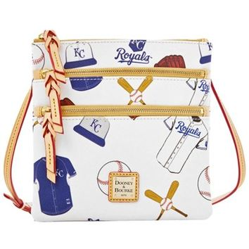 Dooney & Bourke Kansas City Royals Triple Zip Crossbody Purse