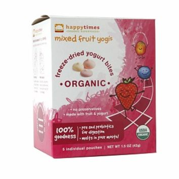 Happy Times Organic Yogurt Snacks, Mixed Fruit Yogis