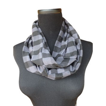Classic Black Charcoal Infinity Scarf-Circle, Loop, Eternity All Seasons Scarf-1 LEFT