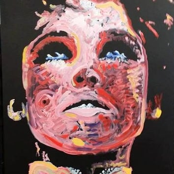Edie Sedgwick Oil Painting Modern Pop Art Painting 18x24 Andy Warhol Factory Girl Urban Art Original Painting New York City NYC