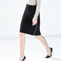 Pencil skirt with side zips