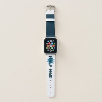 Blue bullet hole. Add your text. Apple Watch Band
