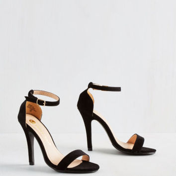 ModCloth Girl's Night Game Plan Heel in Black