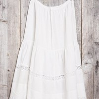 Vintage White Honeycomb Maxi Skirt - Urban Outfitters