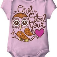 Owl Steal Your Heart Pink One Piece