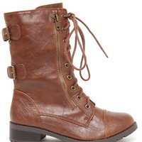 A'GACI Dome Lace Up Combat Boot - BEST SELLERS