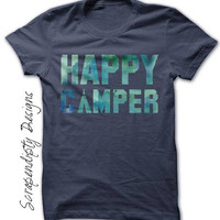 Happy Camper Shirt - Kids Camping Shirt / Toddler Summer Camp Shirt / Womens Camping Tshirt / Mens Camp Outfit / Happy Camper Tshirt / Tee