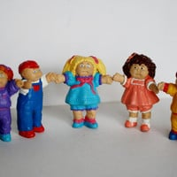 RARE Vintage Set of Cabbage Patch Kids Figurines.  Set of 5.