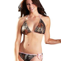 Pretty in Pink Mossy Oak Break Up String Bikini Top