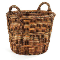 "French Country Round Basket, 22"", Storage Baskets"