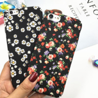 Fashion printing flowers plastic Case Cover for Apple iPhone 7 7Plus 6 Plus 6 -05012