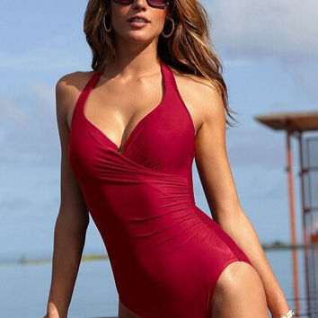 Women One Piece Swimsuits High Waist