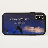 Aquatic Silhouette Cloud iPhone X Case