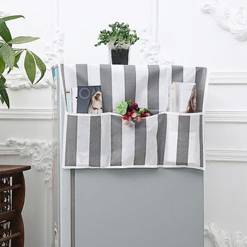 Block Striped Refrigerator Dust Cover