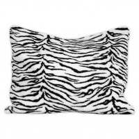 Wake Up Frankie - Faux Fur Standard Sham - Black/White Zebra : Teen Bedding, Pink Bedding, Dorm Bedding, Teen Comforters
