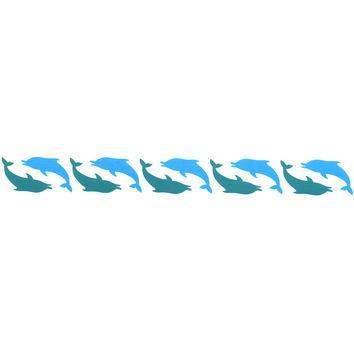 DOLPHIN DYNASTY Armband Temporary Tattoo 1x6