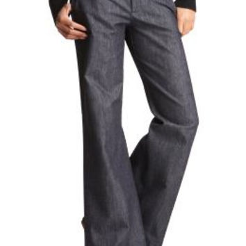 Grey Wide Leg Slacks Dress Pants (Small/Indie Brands)