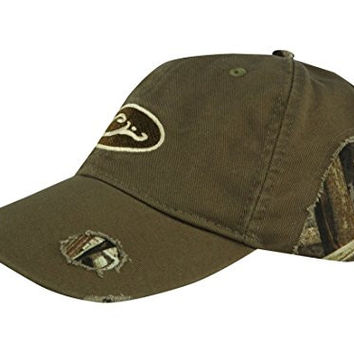 Drake Waterfowl Distressed Cotton Cap - Olive and Max-5