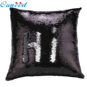 New Qualified Cushion Cover DIY Two Tone Glitter Sequins Throw Pillows Decorative Cushion Covers Levert CSV Dropship dig1122