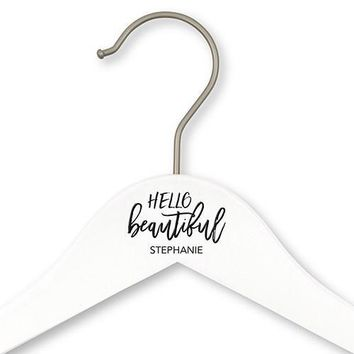 Personalized Bride And Bridesmaids Hangers - Hello Beautiful