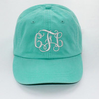 Monogrammed Baseball Cap Ladies Preppy Hat