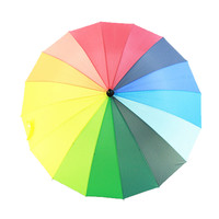 2015 New Rainbow Umbrella with Straight Shank Wedding Party Favor