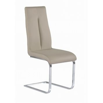 Chintaly Jacquelin Cantilever Chair With Back Handle In Chrome