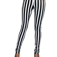 Tripp Black & White Stripe Ladies Pants :: VampireFreaks Store :: Gothic Clothing, Cyber-goth, punk, metal, alternative, rave, freak fashions